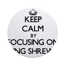 Keep Calm by focusing on Being Sh Ornament (Round)
