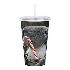 Christmas Koala Candy Acrylic Double-wall Tumbler