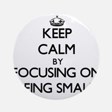 Keep Calm by focusing on Being Sm Ornament (Round)