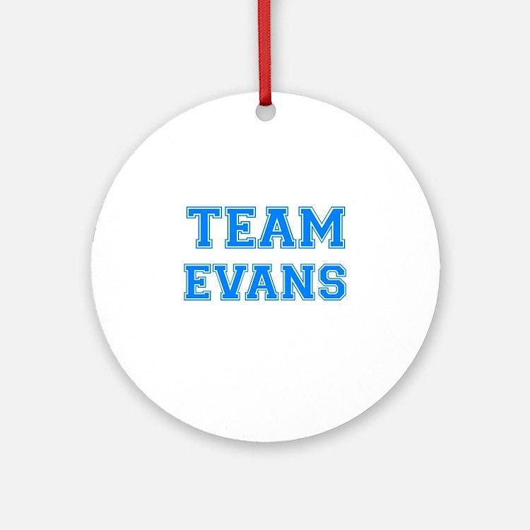 TEAM EVANS Ornament (Round)
