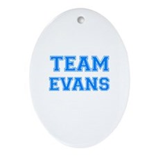 TEAM EVANS Oval Ornament