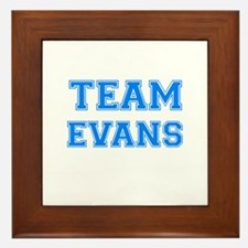 TEAM EVANS Framed Tile