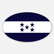 Honduran Flag Oval Decal