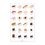 Sushi Ensemble (11'' x 17'') (english)