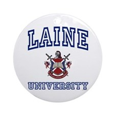 LAINE University Ornament (Round)