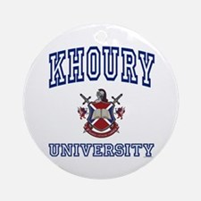 KHOURY University Ornament (Round)