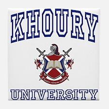 KHOURY University Tile Coaster