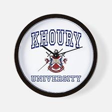 KHOURY University Wall Clock