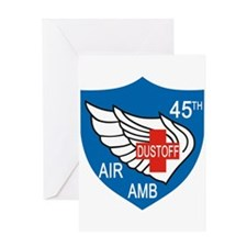 45th Medical Dustoff Patch Greeting Cards