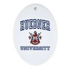 HUEBNER University Oval Ornament