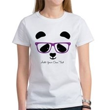 Cute Panda Purple Tee