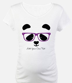 Cute Panda Purple Shirt