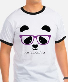 Cute Panda Purple T