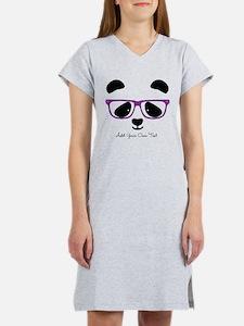 Cute Panda Purple Women's Nightshirt