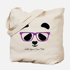 Cute Panda Purple Tote Bag