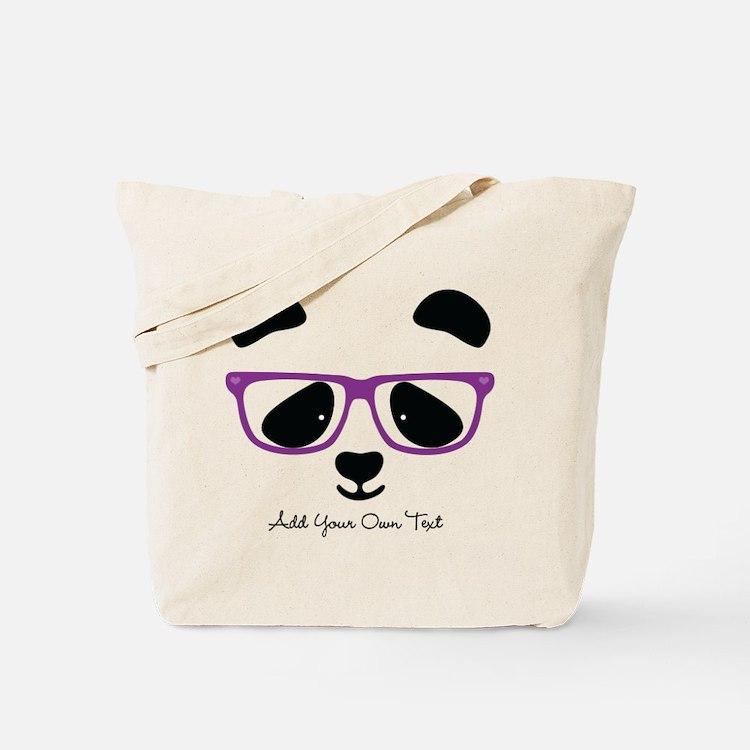 Cute Panda Purple Tote Bag