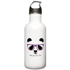 Cute Panda Purple Sports Water Bottle