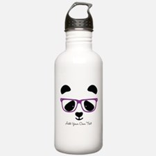 Cute Panda Purple Sports Water Bottle