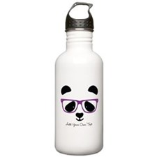 Cute Panda Purple Water Bottle