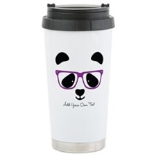 Cute Panda Purple Travel Mug