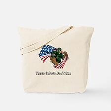 Custom Flag and Eagle Tote Bag