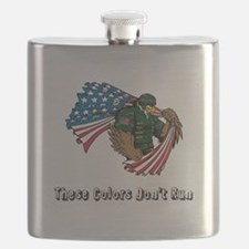 Custom Flag and Eagle Flask