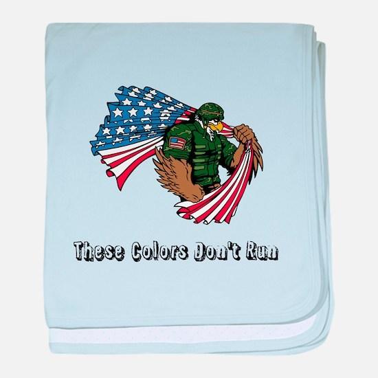 Custom Flag and Eagle baby blanket
