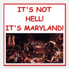 "maryland Square Car Magnet 3"" x 3"""