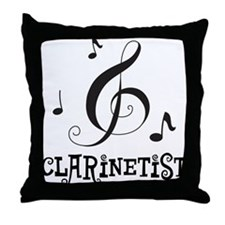 Clarinet Personalized Throw Pillow