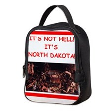 north dakota Neoprene Lunch Bag