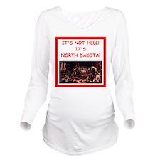 north dakota Long Sleeve Maternity T-Shirt