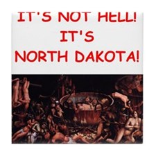north dakota Tile Coaster