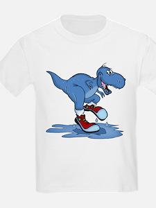 Blue Dinosaur In Training Shoes T-Shirt