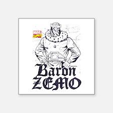 """Marvel Comics Zemo Retro Square Sticker 3"""" x 3"""""""