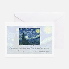 I paint my dream Van Gogh Greeting Cards (Package