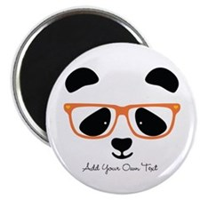 Cute Panda Orange Magnets