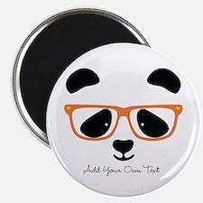 Cute Panda with Orange Glasses Magnet