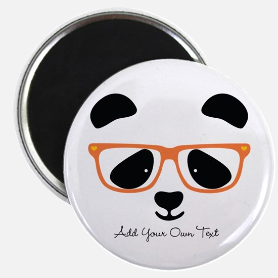 Cute Panda with Orange Glasses Magnet