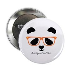 "Cute Panda Orange 2.25"" Button"