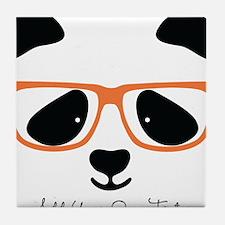 Cute Panda Orange Tile Coaster