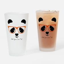 Cute Panda Orange Drinking Glass