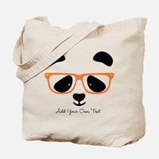 Cute Panda Orange Tote Bag