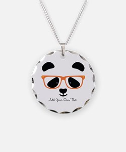 Cute Panda Orange Necklace