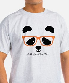 Cute Panda with Orange Glasses T-Shirt