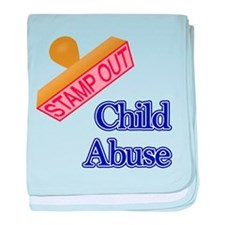 Child Abuse baby blanket
