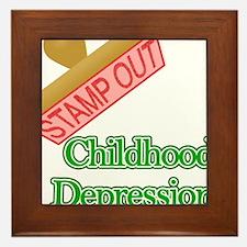 Childhood Depression Framed Tile