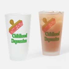Childhood Depression Drinking Glass