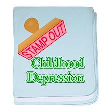Childhood Depression baby blanket