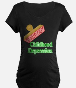 Childhood Depression Maternity T-Shirt