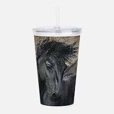 Gothic Friesian Horse Acrylic Double-wall Tumbler